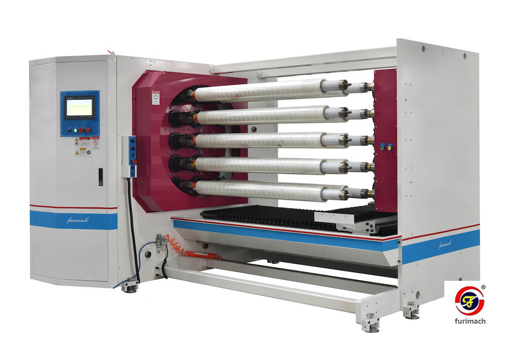 FCG 10-shaft Automatic Log Roll Slitting Machine