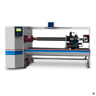 FCC Single Shaft Auto Vinyl Roll Cutting Machine